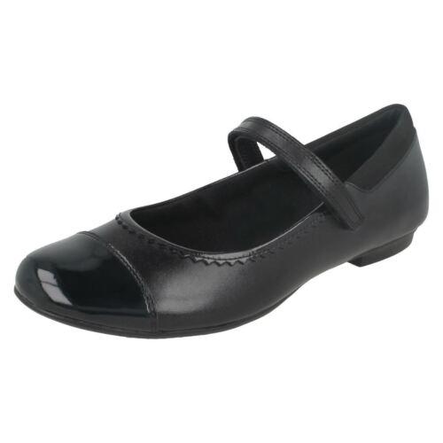 As Para De Negros Niña clarks Zapatos Tizz Piel rw0prxCq