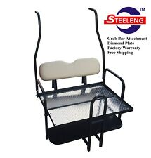 Steeleng Rear Flip Seat Kit for Club Car Golf Cart DS 2000-2013 with Grab Bar