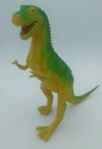 Vintage-1985-Imperial-Rubber-T-Rex-Dinosaur-Action-Figure-Green-Tyrannosaurus