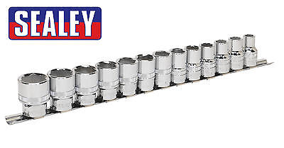 "Sealey Premier 13 Pce Metric 1/2"" Sq Dr 6Pt Hex LOCK ON GRIP Socket Set AK2742"