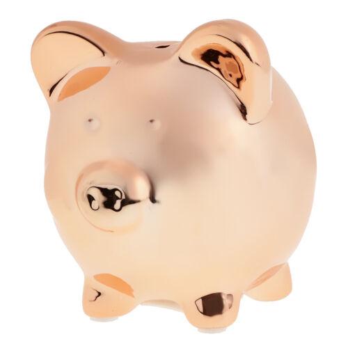Creative Piggy Bank Money Box Saving Coins Kids Child Toy Gift Ceramic Gold