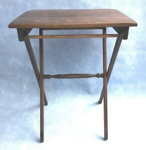 image is loading vintage wood folding portable coffee table outdoor furniture