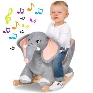 Elefante a Dondolo Cavalcabile Peluche Giocattolo Bambini con Effetti Sonori