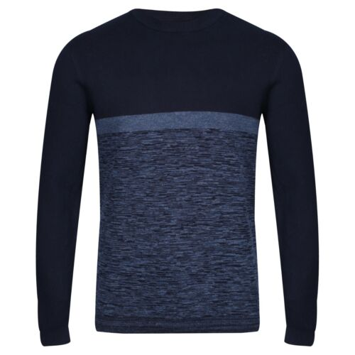 NEXT™ Mens Pure Cotton Crew Neck Jumper New Contrast Blue Sweater Pullover Top