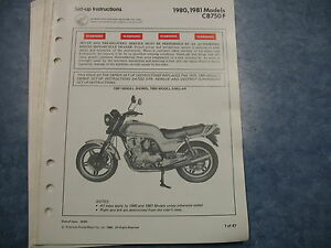 80 81 cb750f cb750 f honda factory oem assembly set up manual wiring rh ebay com