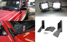 Lower Windshield LED Mounts + (2) 18W 1260LM CREE Spot Lights New Free Shipping