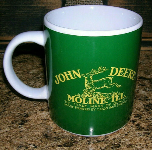 Heavy John Deere Moline Illinois Coffee Mug Green Yellow Licensed Product Gibson