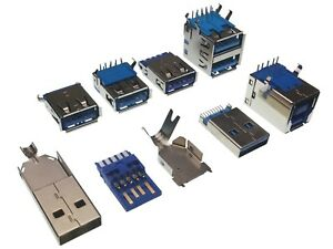USB-3-0-Connectors-7-Types-Male-amp-Female-Type-A-Type-B-Through-Hole-SMD