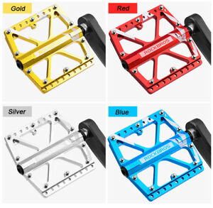 "ROCKBROS Bicycle Pedals Flat//Platform Three Bearing Pedals 9//16/"" For MTB BMX DH"