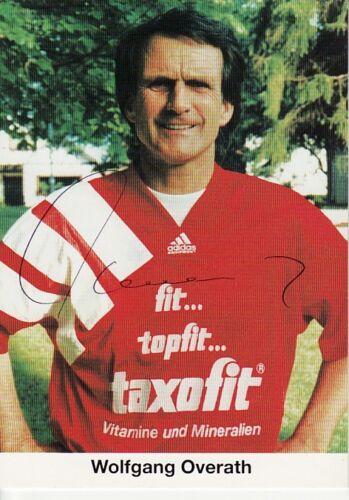 Autogramm Wolfgang Overath 1 FC Köln Weltmeister 1974 Vize1966 Wembley TAXOFIT#