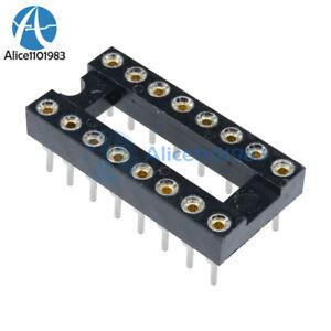 50pcs-16pin-dip-sip-round-ic-sockets-adaptor-solder-type-vergoldet-bearbeitet