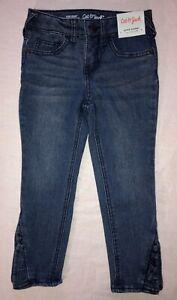 NEW-NWT-Girls-Size-16-Cat-amp-Jack-Super-Skinny-Stretch-Adjust-Denim-Blue-Jeans