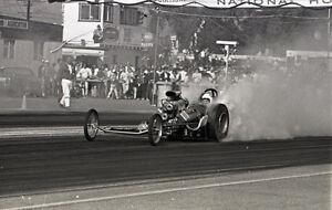 Front Engine Dragster Smoking Burnout Vintage 35mm Drag