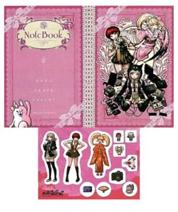 Sale Danganronpa Note Sticker Set Nanami Chiaki Hiyoko Mahiru Furyu Kuji Anime Ebay
