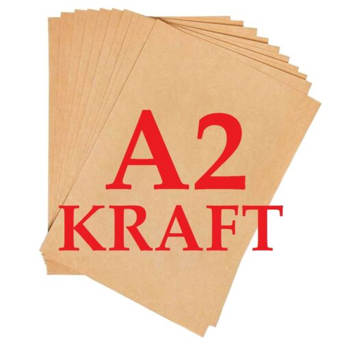 400gsm BROWN KRAFT CARD PRINTER PAPER BOARD SHEETS BLANKS A2 A3 A4 A5 A6 100gsm