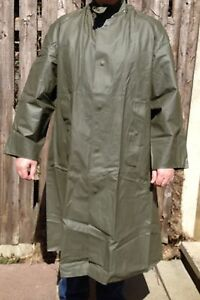 Swedish-Army-Issue-Rubber-Pvc-Mac-Olive
