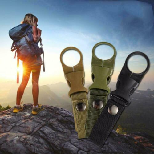 1PC Water Bottle Holder Clip Outdoor Camping Hiking Buckle Hanging Tactical R5V6