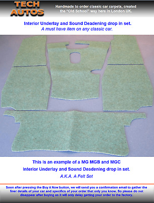 Underlay /& Soundproof Set Handmade to Order Hillman Imp