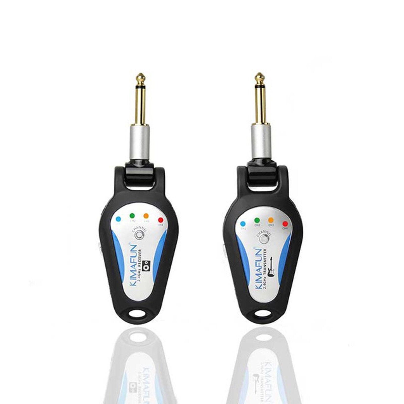 2.4G Drahtlos Audio Sender Empfänger System für E-Gitarre Bass Violine