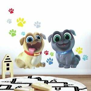 Giant-PUPPY-DOG-PALS-13-wall-decals-Bingo-Rolly-Pug-Paw-prints-Stickers-decor