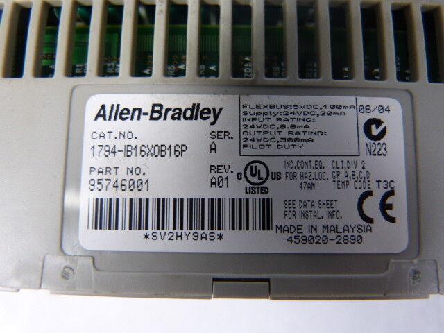 Allen-Bradley 1794-IB16XOB16P 1794-IB16XOB16P 1794-IB16XOB16P Flex Módulo de E/S Combo Usado 6f6ff7