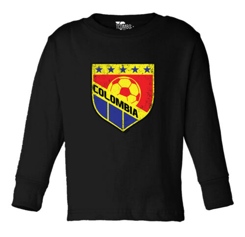Details about  /Colombia Soccer T-shirt Football Futbal Club Team Sports Ball Long Slv