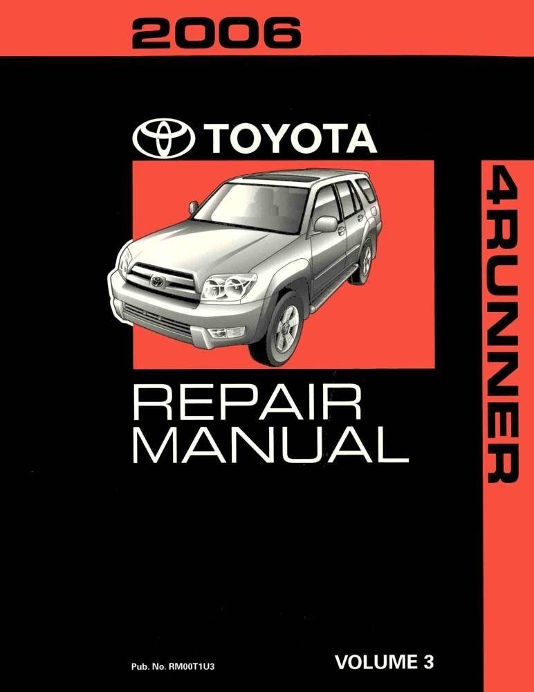 2006 Toyota 4-Runner Shop Service Repair Manual Volume 3 Only