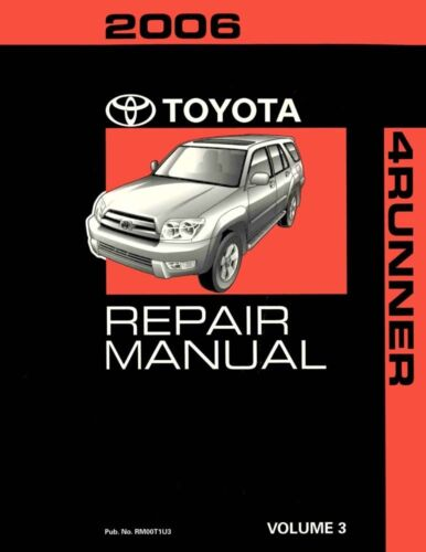 2006 Toyota 4-Runner Shop Service Repair Manual Volume 3 Only