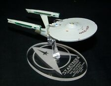 acrylic replacement display base for Eaglemoss NCC-1701 refit Star Trek II WOK