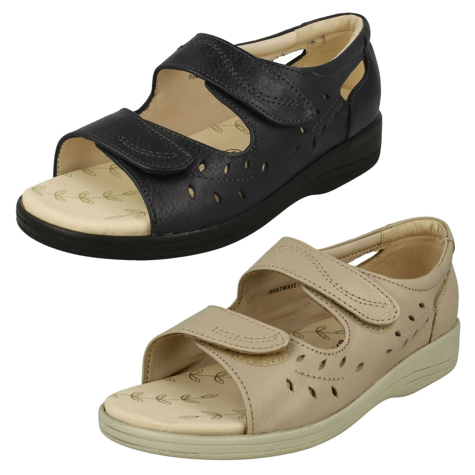 Ladies Padders Peep Toe Sandals  Heatwave