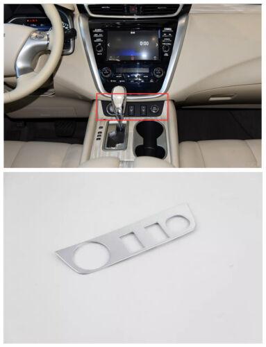Matt Car seat heating button decorative cover trim 1pcs For Nissan Murano 15-17