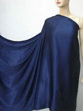 Dark Blue Pure Silk Satin Charmeuse Fabric per Yard Per Yard Plain Crepe Back