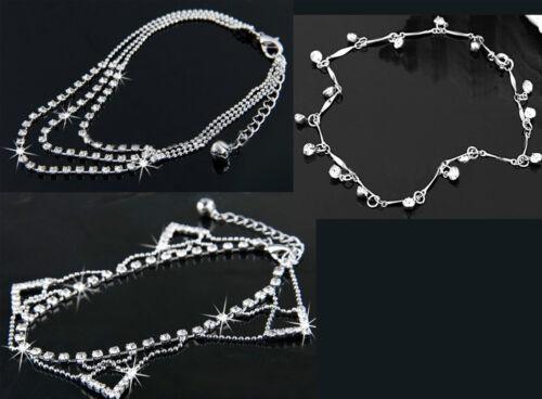 triángulo Pulseras con diamantes de imitación diamantes 3 Diferentes Diseños único 3 cadenas