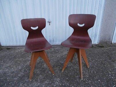 Flötotto Schulmöbel Design Stuhl Pagholz Vintage