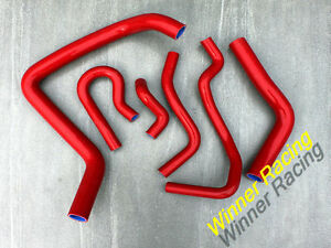Details about Fit Honda Civic USDM Si / CAN SiR B16A2 EM1 1999 2000  Silicone Radiator Hose Red
