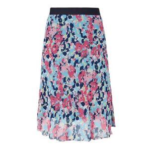 CHRISTIAN-BERG-Damen-Rock-Sommer-Floral-Blumen-Muster-gemustert-bluemchen