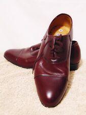 Vintage PLAYBOY 70's/80's Mens Dress Shoes Size 10 M Leather Upper Burgundy