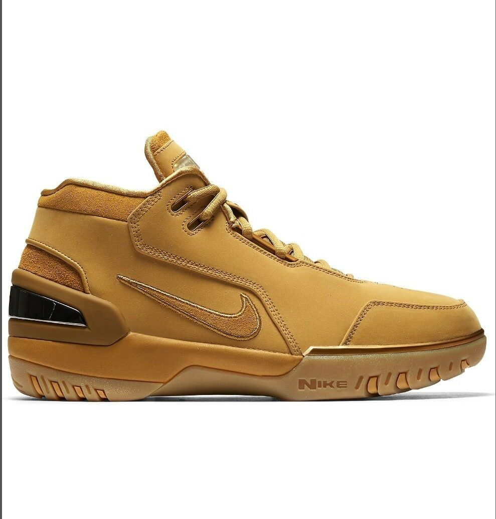 Lebron 1 Air Zoom Generation Wheat Gold retro 7.5 Special limited time