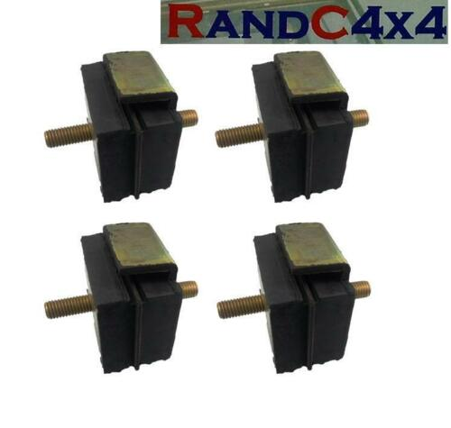 4x NRC2052 Land Rover Series 2 2a 3 Diesal Engine /& Gearbox Mounting Set