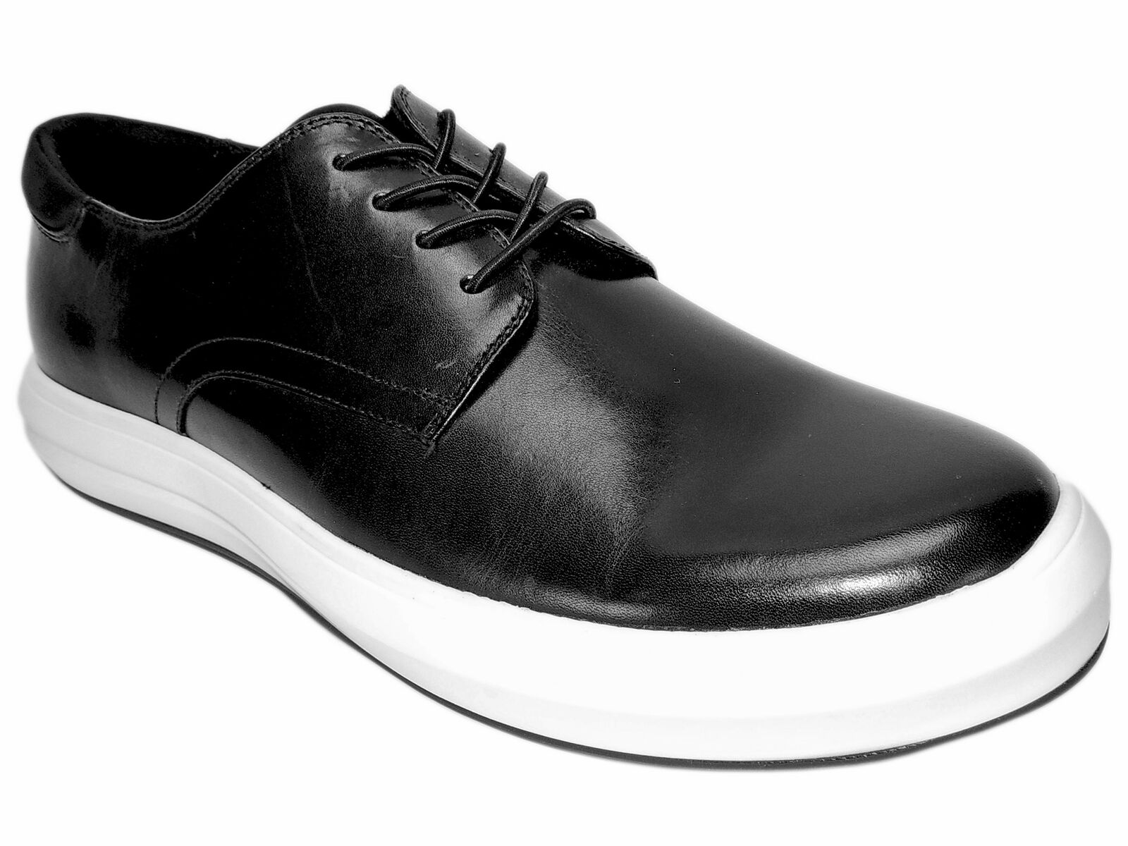 Kenneth Cole New York Men's The Mover Lace-Up Dress Sneakers Black Leather Sz 9M