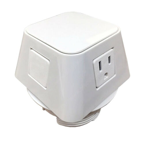 2 Power Outlets Desktop NEW Byrne Moire In Surface Power Charging Center