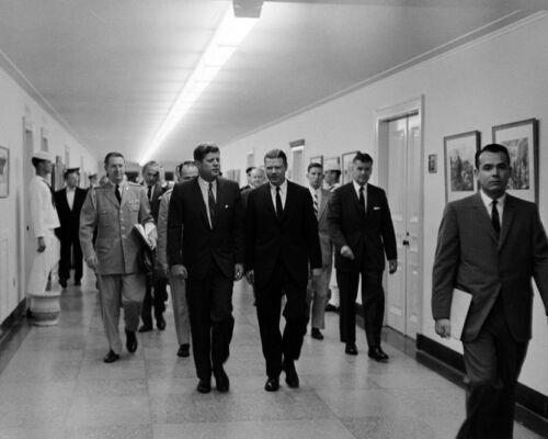 Kennedy with Robert McNamara at the Pentagon New 8x10 Photo President John F