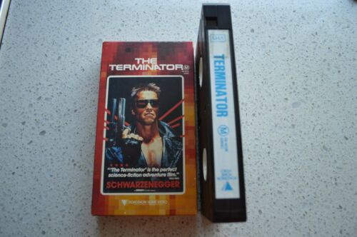 THE TERMINATOR RARE AUSTRALIAN VHS VIDEO CARDBOARD SLEEVE! SCHWARZENEGGER