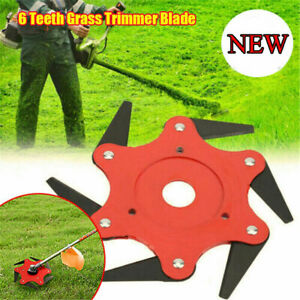 6-Steel-Blade-Razors-65Mn-Lawn-Mower-Grass-Eater-Trimmer-Head-Brush-Tools-Home