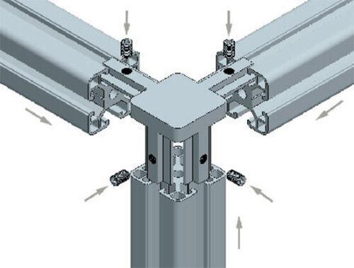 Connectors Profile Connector 20mm//30mm//40mm Nut 6//8 Aluminium Profile