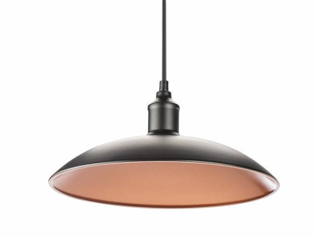 Industrieleuchte Retro Design Ø32cm Metall schwarz bronze Hängelampe Pendellampe