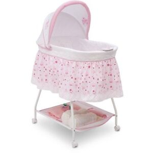 Details about Baby Bassinet Cradle Crib Bed Infant Newborn Girl Princess  Nursery Furniture Bed