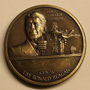 Uss Ronald Reagan Cvn 76 Peace Through Strength 40th Pres