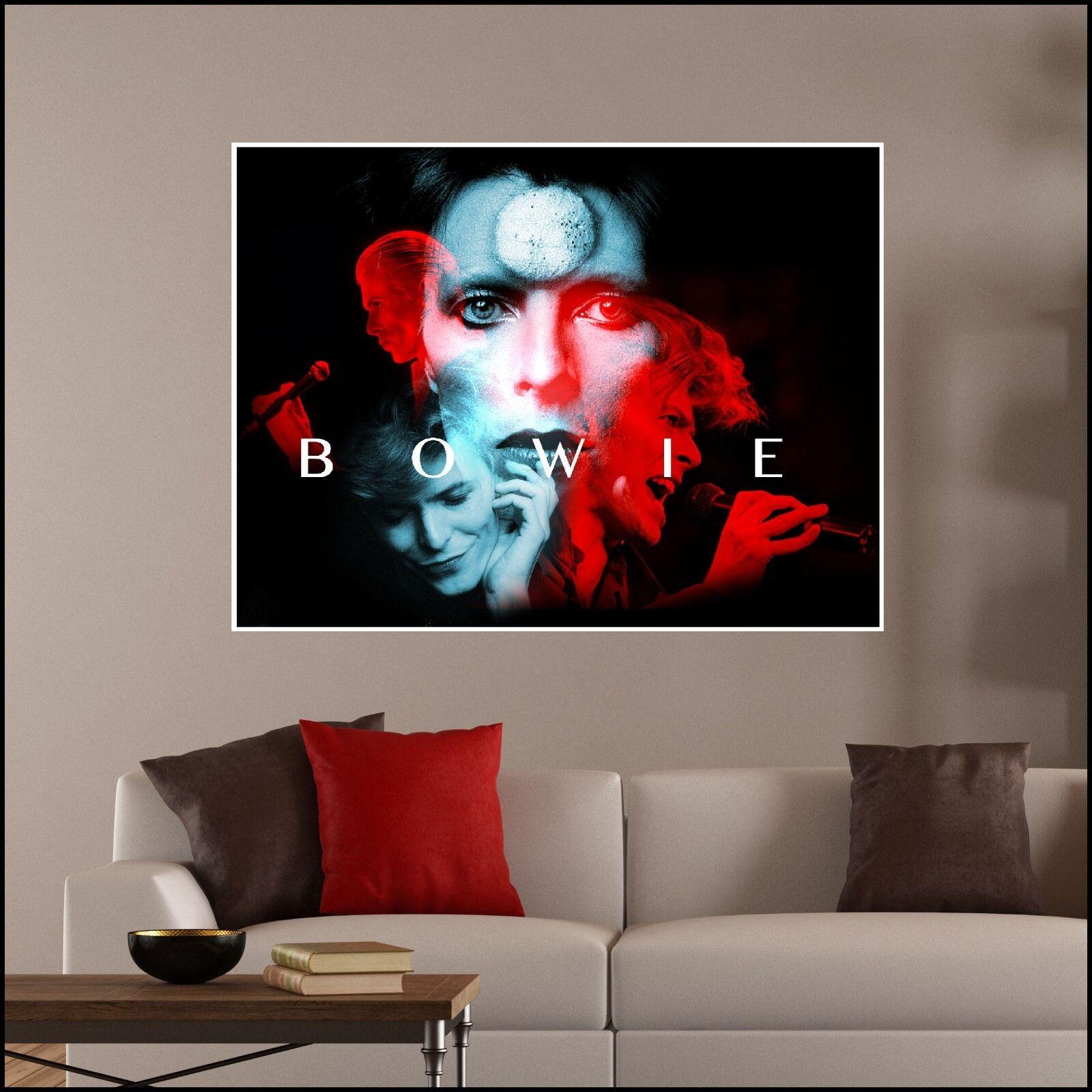 David Bowie Colour Photo vinyl wall art sticker 7 Größes A4 - XL 1.2m Mural