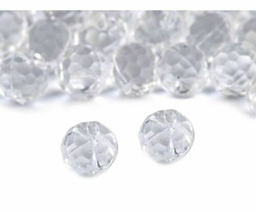 20pc Crystal Buttons Ø10mm Wedding Dress And Fastening Haberdashery
